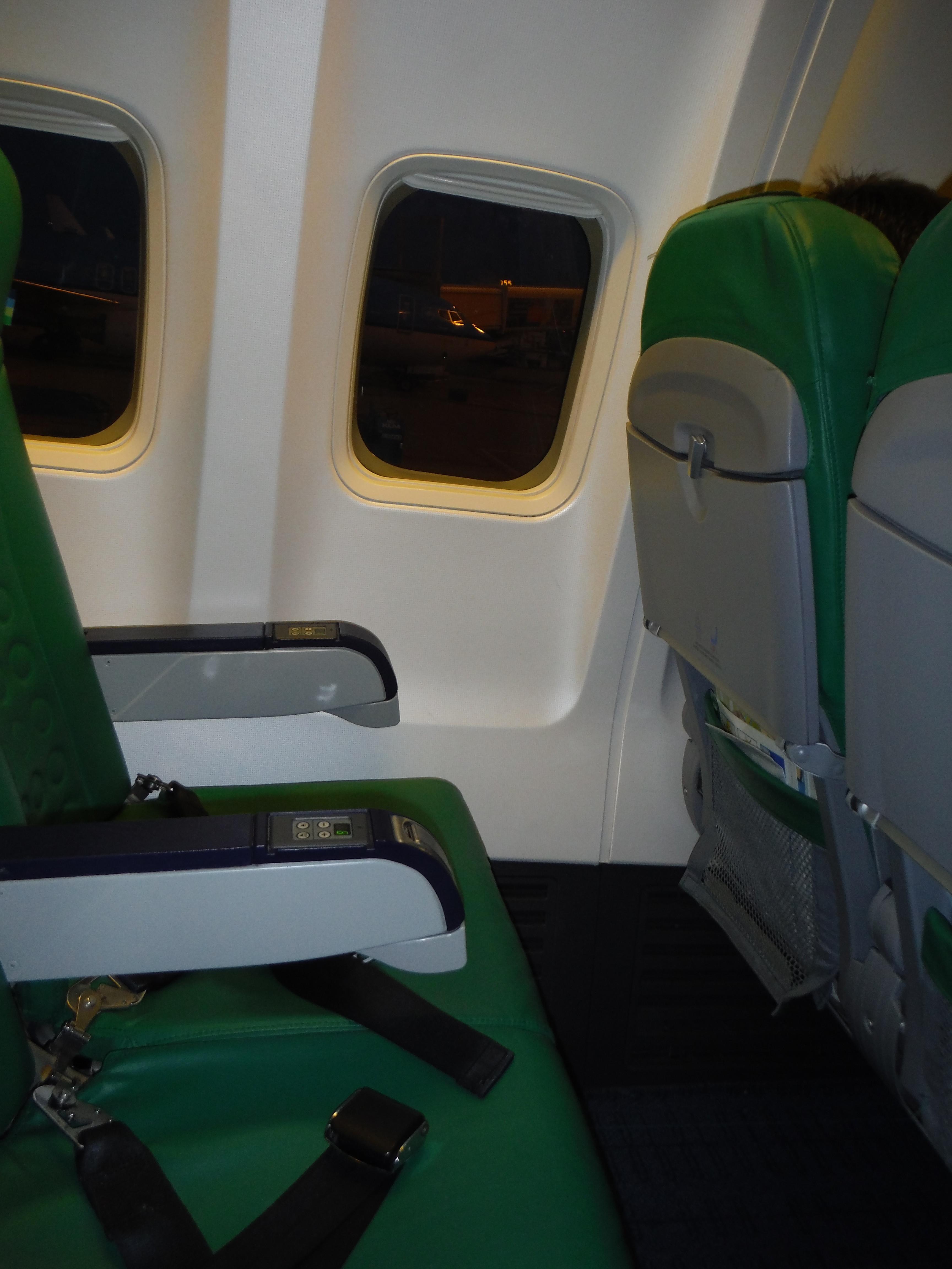 Transavia row of seats
