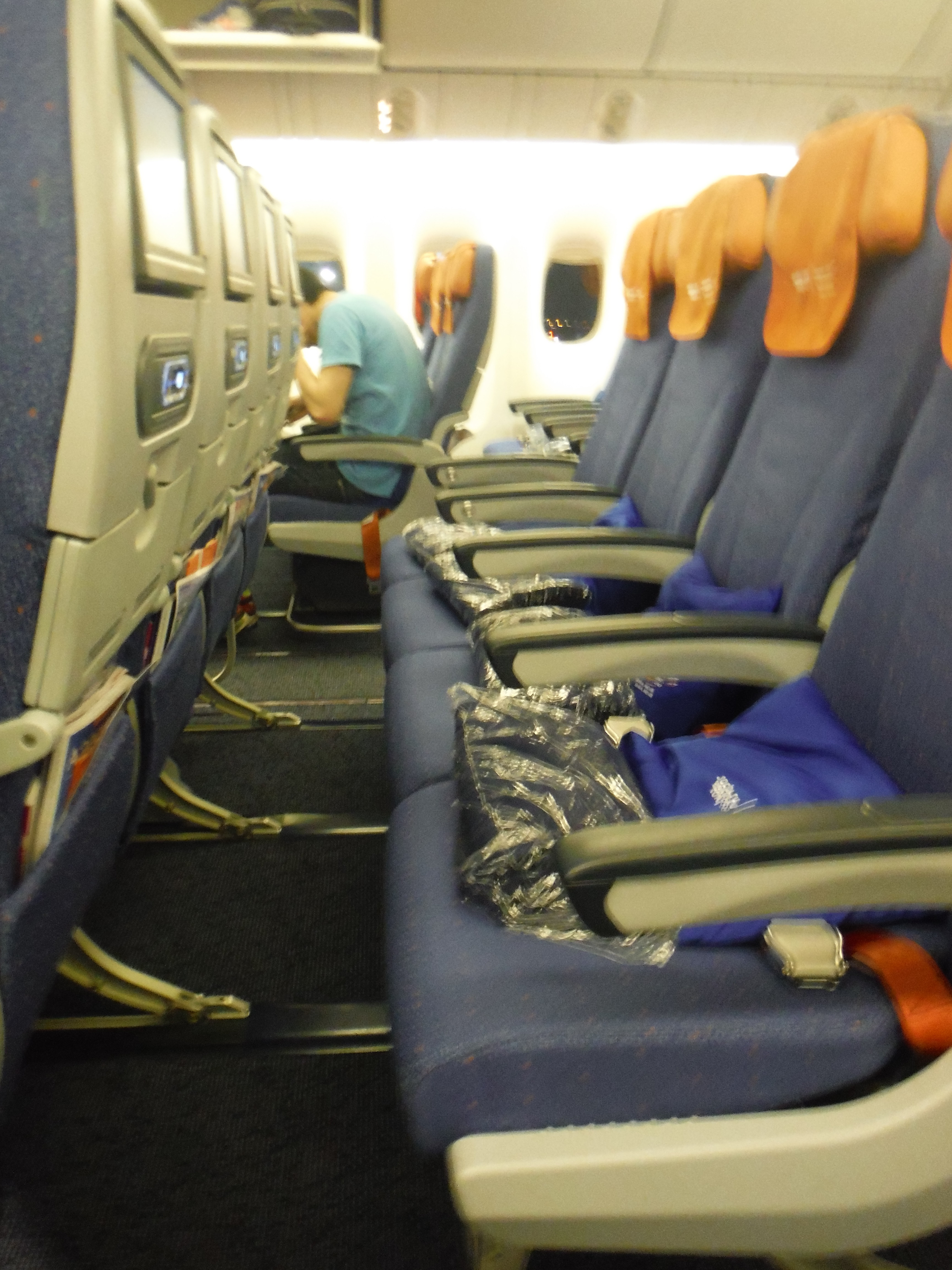 Economy class cabin, Aeroflot Boeing 777.
