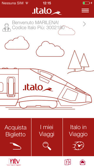 Italo Treno app screenshot