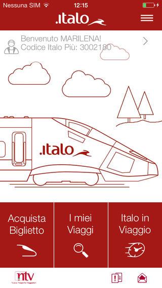 Italo Treno app screenshot