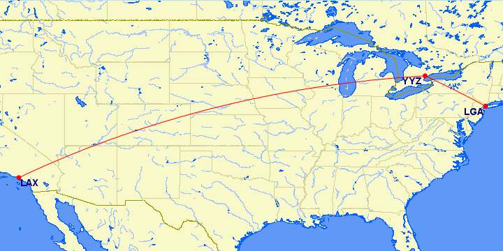 lax-yyz-lga route map