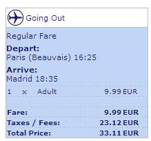 Ryanair 33 euro flight