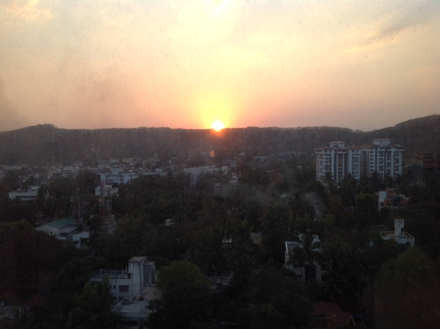 sunset photo, pune, india