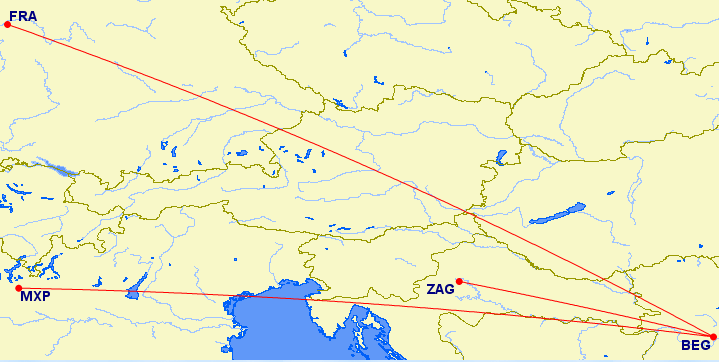 Ridiculous Air Serbia itinerary