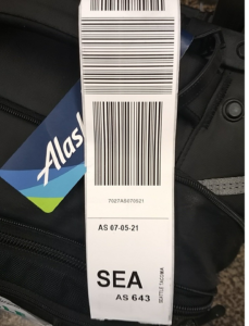 picture of bag with tag