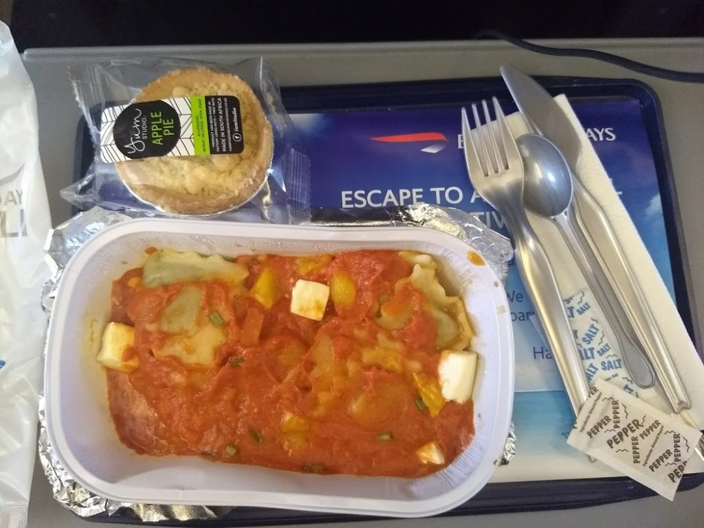 airline meal picture