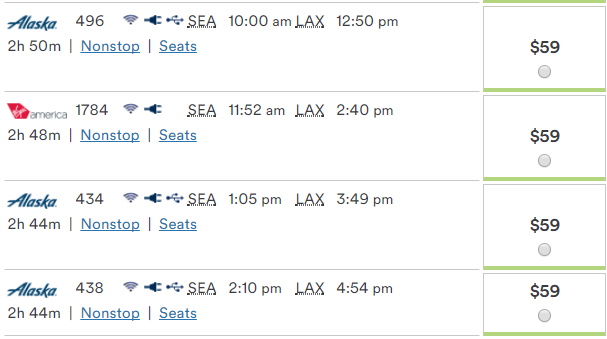 SEA-LAX for only $59