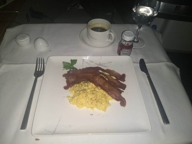 Cathay first breakfast