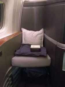 Cathay first class seat guest chair
