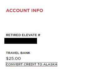 convert credit to Alaska