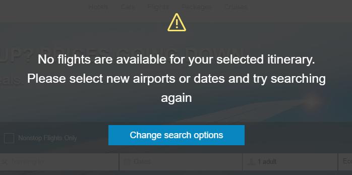 hle airport error