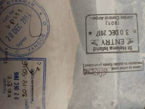 st helena passport stamp
