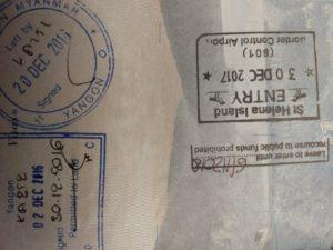 st helena passport stamp