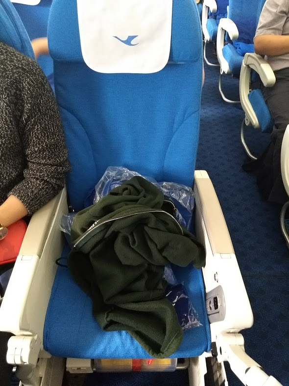 Airline seat 54J