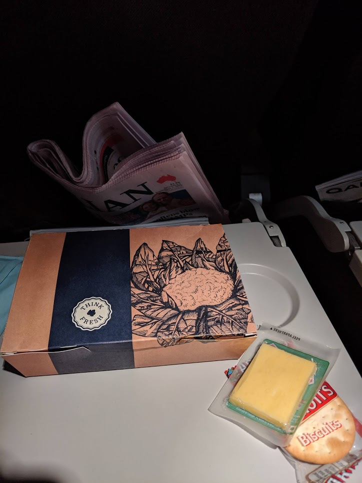 Qantas meal box